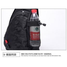 Dxyizu Tas Selempang Waistbag dengan USB Charger Port - Black - 5