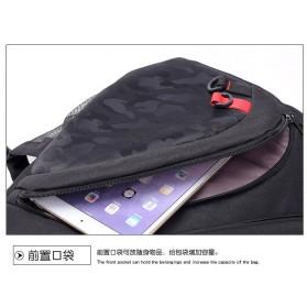 Dxyizu Tas Selempang Waistbag dengan USB Charger Port - Black - 6