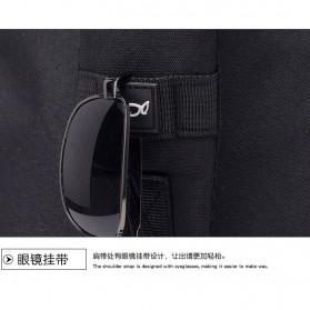 Dxyizu Tas Selempang Waistbag dengan USB Charger Port - Black - 9