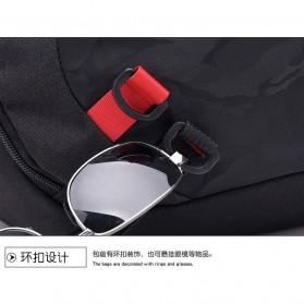 Dxyizu Tas Selempang Waistbag dengan USB Charger Port - Black - 10