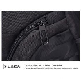 Dxyizu Tas Selempang Waistbag dengan USB Charger Port - Black - 11
