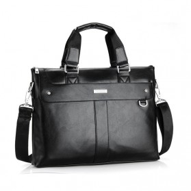 Vormor Tas Selempang Jinjing Messenger Bag Kulit Pria Business Briefcase - BB235 - Black