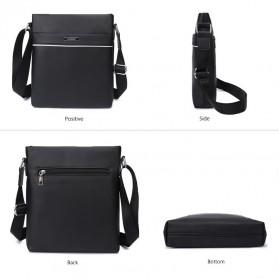 Vormor Tas Selempang Pria Vintage Shoulder Bag dengan Dompet - V77 - Black - 2
