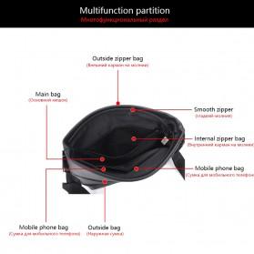 Vormor Tas Selempang Pria Vintage Shoulder Bag dengan Dompet - V77 - Black - 4