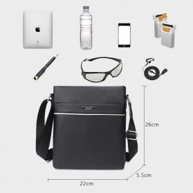 Vormor Tas Selempang Pria Vintage Shoulder Bag dengan Dompet - V77 - Black - 5