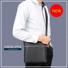 Vormor Tas Selempang Pria Vintage Shoulder Bag dengan Dompet - V77 - Black - 6