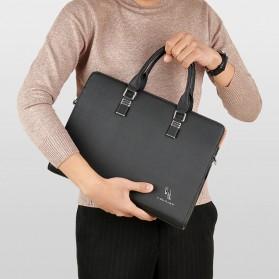 Rhodey Tas Selempang Tote Wanita Vintage Leather Shoulder Bag - HA-047-E - Black - 2