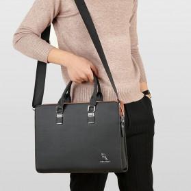 Rhodey Tas Selempang Tote Wanita Vintage Leather Shoulder Bag - HA-047-E - Black - 3
