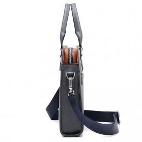 Rhodey Tas Selempang Tote Wanita Vintage Leather Shoulder Bag - HA-047-E - Black - 5