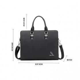 Rhodey Tas Selempang Tote Wanita Vintage Leather Shoulder Bag - HA-047-E - Black - 7