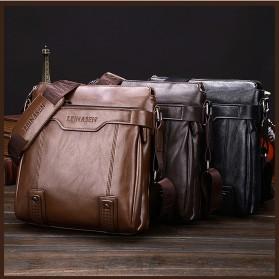 Rhodey Tas Selempang Messenger Crossbody Bag Pria - HA-085 - Black - 8