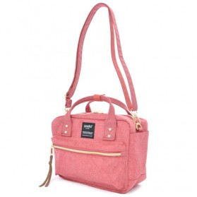 Anello Tas Selempang Square Mini Boston 2 Way - Pink