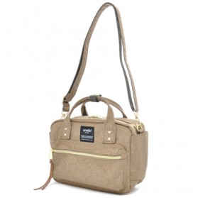 Messenger Bag / Tas Selempang - Anello Tas Selempang Square Mini Boston 2 Way - Beige