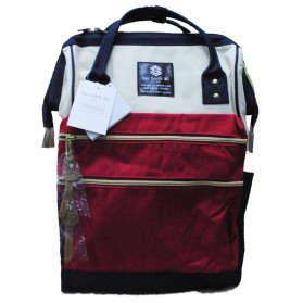 Tas Ransel Laptop / Backpack Notebook - Anello Sun Earth & U Tas Ransel Double Strip - Red/White