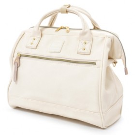Anello Tas Selempang Kulit Boston 2 Way - White