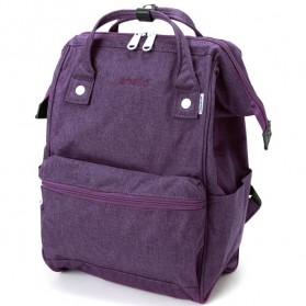 Anello Tas Ransel Kanvas Frosted - Large - Purple