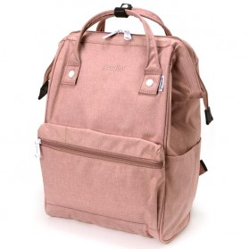 Anello Tas Ransel Kanvas Frosted - Large - Baby Pink