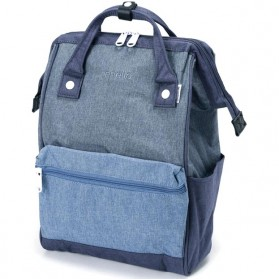 Anello Tas Ransel Kanvas Frosted - Large - Blue