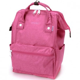 Anello Tas Ransel Kanvas Frosted - Small - Pink