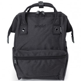 Anello Tas Ransel Kanvas Frosted - Small - Black - 2
