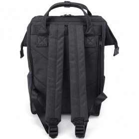 Anello Tas Ransel Kanvas Frosted - Small - Black - 3