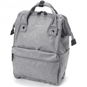 Anello Tas Ransel Kanvas Frosted - Small - Light Gray