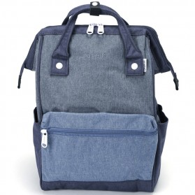 Anello Tas Ransel Kanvas Frosted - Small - Blue - 2