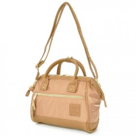 Anello Tas Selempang 2 Way Boston PU+Nylon Sling Bag - Pink