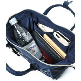 Anello Tas Selempang 2 Way Boston PU+Nylon Sling Bag - Beige - 4