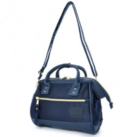 Anello Tas Selempang 2 Way Boston PU+Nylon Sling Bag - Blue