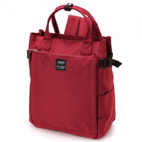 Tas Ransel Laptop / Backpack Notebook - Anello Tas Ransel 10 Pocket 2 Way - Red