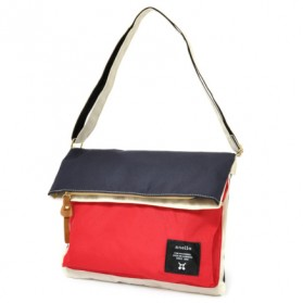 Anello Tas Selempang Folding Bag - Red/White