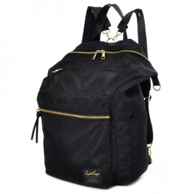 Legato Largo Tas Ransel Selempang Nylon 3 Way - Black
