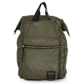 Legato Largo Tas Ransel Selempang Nylon 3 Way - Khaki - 3