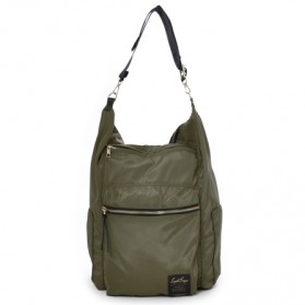 Legato Largo Tas Ransel Selempang Nylon 3 Way - Khaki - 4