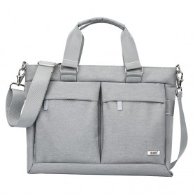 BUBM Tas Selempang Pria Messenger Bag Canvas for Laptop 13.3 Inch - 818 - FXQX-13 - Silver