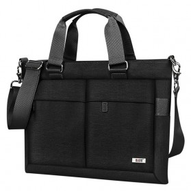 BUBM Tas Selempang Pria Messenger Bag Canvas for Laptop 13.3 Inch - 818 - FXQX-13 - Black