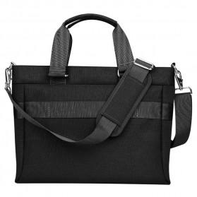 BUBM Tas Selempang Pria Messenger Bag Canvas for Laptop 13.3 Inch - 818 - FXQX-13 - Black - 2