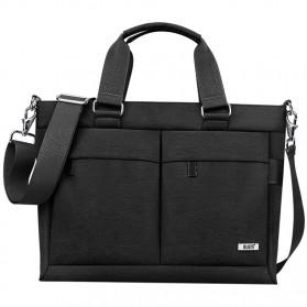 BUBM Tas Selempang Pria Messenger Bag Canvas for Laptop 13.3 Inch - 818 - FXQX-13 - Black - 4