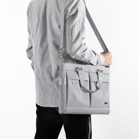 BUBM Tas Selempang Pria Messenger Bag Canvas for Laptop 13.3 Inch - 818 - FXQX-13 - Black - 5