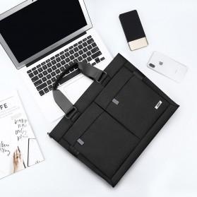 BUBM Tas Selempang Pria Messenger Bag Canvas for Laptop 13.3 Inch - 818 - FXQX-13 - Black - 8