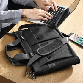 BUBM Tas Selempang Pria Messenger Bag Canvas for Laptop 13.3 Inch - 818 - FXQX-13 - Black - 9