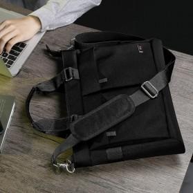 BUBM Tas Selempang Pria Messenger Bag Canvas for Laptop 13.3 Inch - 818 - FXQX-13 - Black - 10