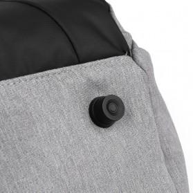 BUBM Tas Ransel Ibu Botol Susu Bayi Diapers Mummy Bag Kasual Canvas - L168 - Black - 8