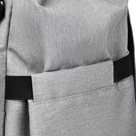 BUBM Tas Ransel Ibu Botol Susu Bayi Diapers Mummy Bag Kasual Canvas - L168 - Black - 9