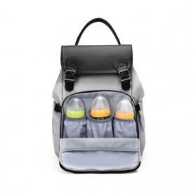BUBM Tas Ransel Ibu Botol Susu Bayi Diapers Mummy Bag Kasual Canvas - L168 - Black - 11