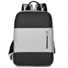 BUBM Tas Ransel Laptop Sekolah Backpack - L166 - Gray