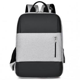 BUBM Tas Ransel Laptop Sekolah Backpack - L166 - Gray - 1