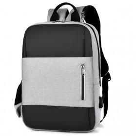 BUBM Tas Ransel Laptop Sekolah Backpack - L166 - Gray - 2