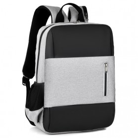BUBM Tas Ransel Laptop Sekolah Backpack - L166 - Gray - 3